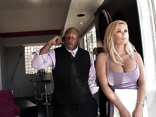Big Boobs Blonde MILF sells her mother house to BBC guy